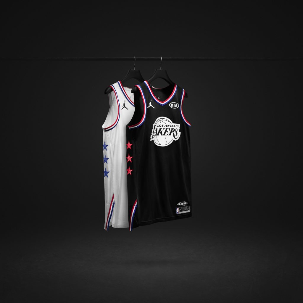 2019 All-Star NBA game use jerseys with black & white logos