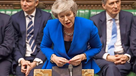 Theresa May narrowly dodges the sack as she comes victorious after a narrowly decided no-vote of confidence