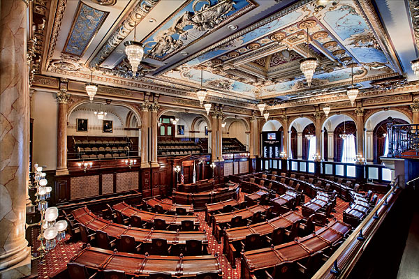 The Illinois Senate Chamber is Backing bill for  Hourly Minimum Wage Within 6 Years