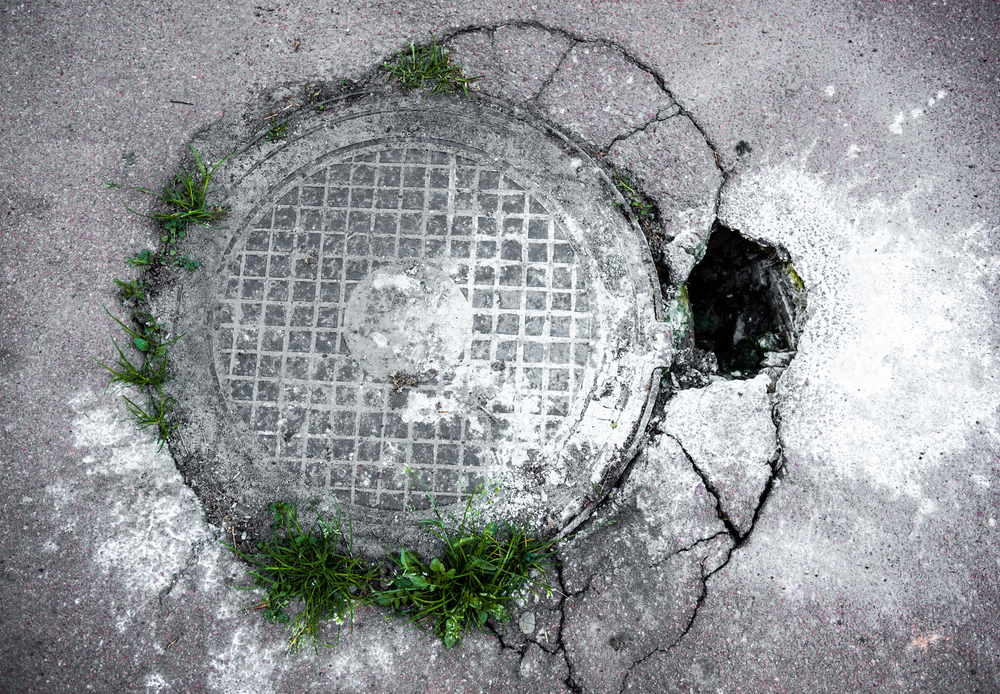 Man & Child rescued from a Utility Hole