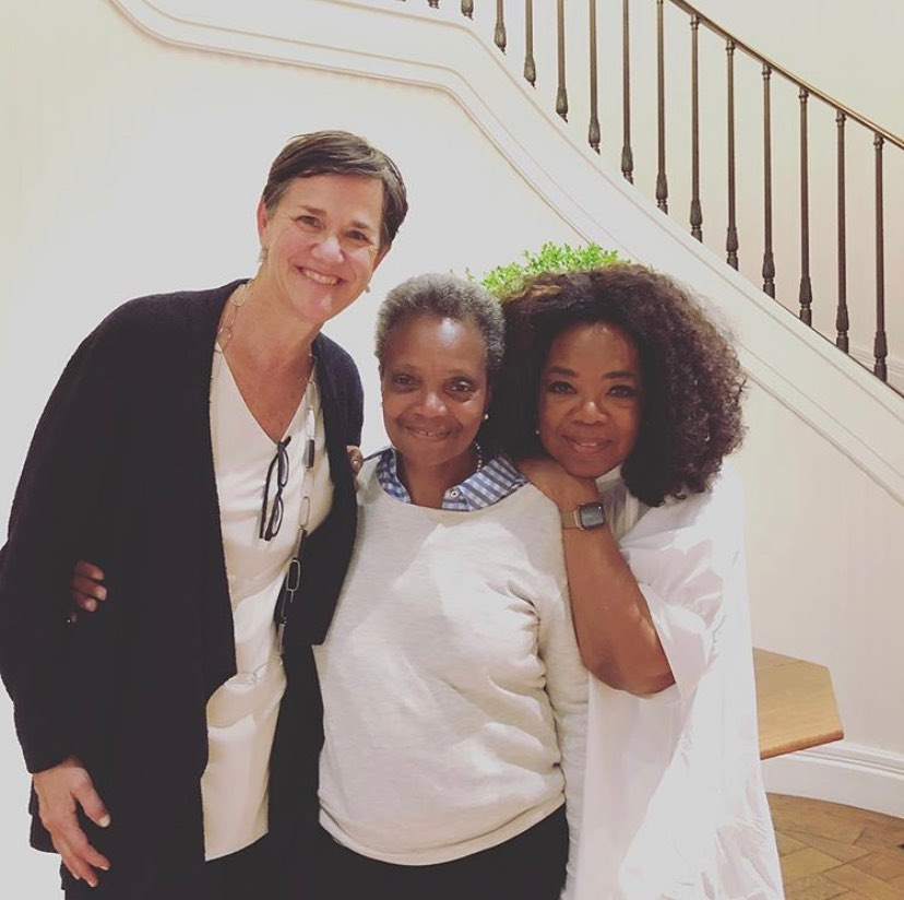 Lori Lightfoot and her wife had a dinner at Oprah Winfrey's house