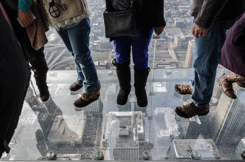 Crack occurred in the protective layer of the Willis Tower's Skydeck Ledge