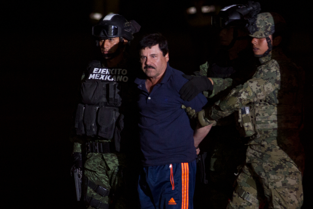 Drug king Joaquin Guzman receives the sentence of life in Prison