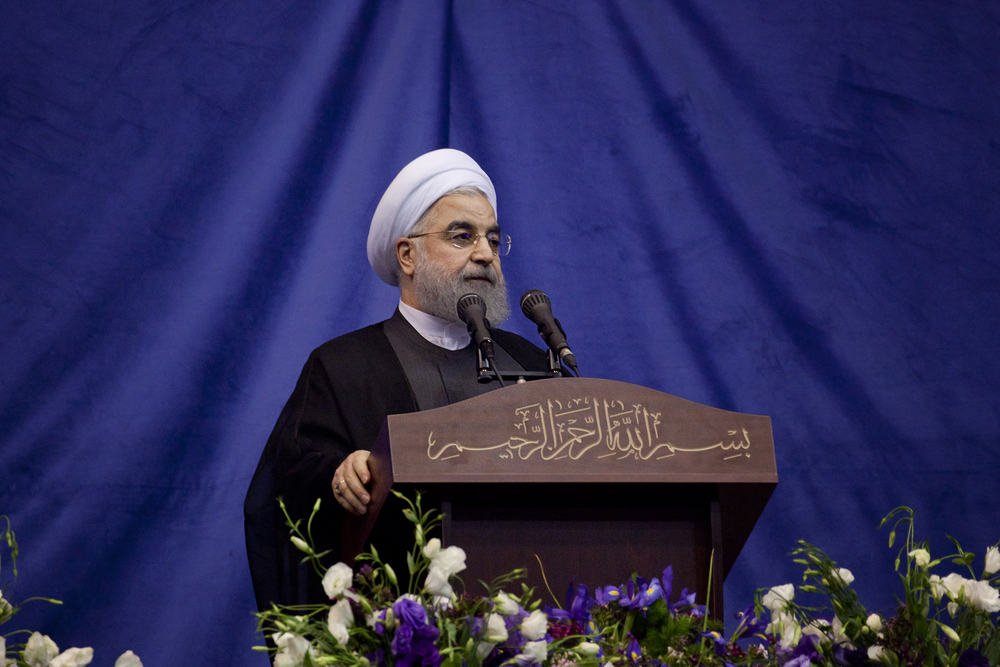Foreign military forces should stay out of gulf countries, Iranian President says