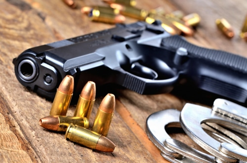 Illegal Possession of Handguns Charges for Three Convicted Felons
