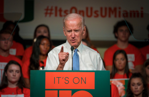 Biden says Trump is first racist president of America