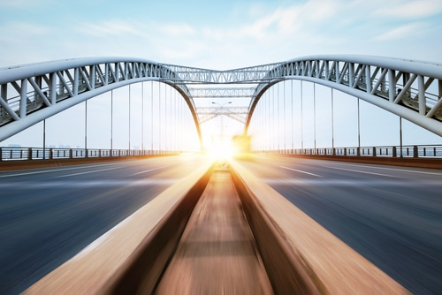 114-year-old historic bridge lifted