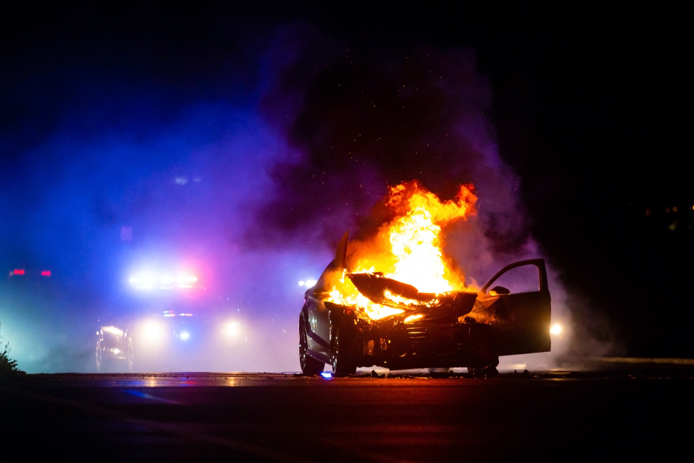 Man Who Set Fire to Chicago Police Vehicle During Civil Unrest Pleads Guilty In Federal Court